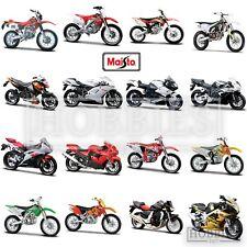 Maisto 1:18 Bikes Model Diecast BMW Kawasaki Ducati KTM Honda Yamaha Motorbike