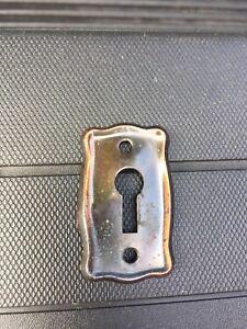 Vintage Flashed Copper Key Hole Escutcheon
