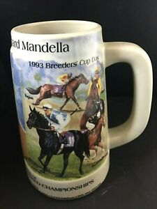 1993  Breeders Cup Oak Tree 25th Running Thoroughbred Richard Mandella Stein Mug