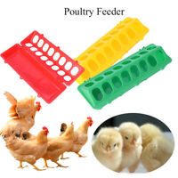 Pheasant Farm Feeding Tool Pigeons Trough Water Dishes Dispenser Poultry Feeder