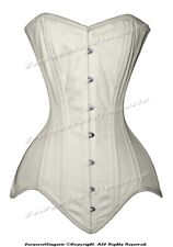 Heavy Duty 26 Double Steel Boned Waist Training Cotton Overbust Shaper Corset 2X