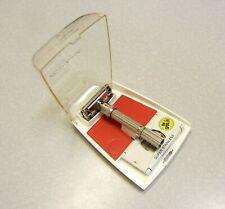 Vintage Gillette Slim Adjustable Safety Razor Set in Case J-1 1964