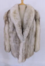 Vintage Saga Fox Frosted Silver Fur Stroller Length Exc Condition Sz L