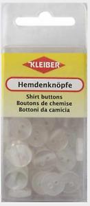 Knopf 40 Hemdenknöpfe zum Annähen an Hemden und Blusen perlmutt  80033