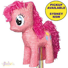 MY LITTLE PONY PARTY SUPPLIES 3D PINKIE PIE PULL STRING PINATA BIRTHDAY GAME