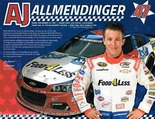 "2016 AJ ALLMENDINGER ""FOOD 4 LESS CALIFORNIA"" #47 NASCAR SPRINT CUP POSTCARD"