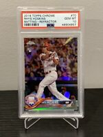 2017 TOPPS CHROME REFRACTOR RHYS HOSKINS ROOKIE RC PHILLIES - PSA 10 GEM MT🔥📈