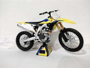 1:12 Suzuki RMZ 450 2018 Toy Model Detailed Motocross motorbike Yellow kengfai