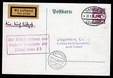 Danzig 203 a. Luftpost-Karte 27.7.26 n. Berlin