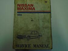 1985 Nissan Maxima Service Repair Shop Manual Factory OEM 85 Used Water Damage