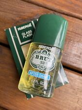 Vintage Faberge Brut 33 Mens 4.2 oz After Shave New Old Stock Glass Flask Gift