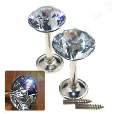 2 X 40mm K9 Wall Hook Crystal Glass Curtain Hold Backs Tie Back