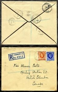 p125 - SPERLING STATION BC 1936 Split Ring Receiver on Cover from Paddington UK✉