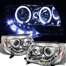 2005-2011 Toyota Tacoma Pre Runner LED DRL Halo Projector Headlights Left+Right