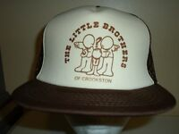 Vintage CROOKSTON MINNESOTA MESH SNAPBACK Baseball Cap Trucker Retro Hat Lid Q