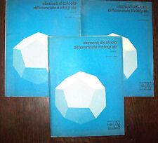 Matematica Elementi di calcolo differenziale e integrale 3 voll. Piero Negrini