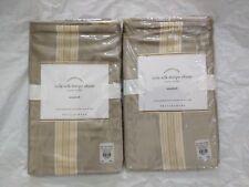 2 New Pottery Barn Cole Silk Stripe Sham Std Latte