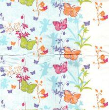 3 Mouchoirs en papier Papillon Decoupage Paper Hankies Spring Like Serviette