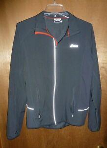 Asics Running Jacket Men's Gray Stretch - Size S