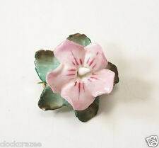 "Vintage Artone Floral made in England Porcelain Brooch Pin 1-1/2"" wide"