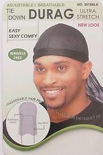 Magic Collection Tie Down Durag Ultra Stretch Adjustable / Breathable No 3910BLK