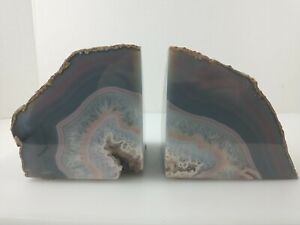 """5.25"""" Tall  Crystal Rock Mineral Stone Bookends"""