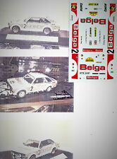 Decals 1/43e Ford Escort RS 1800 Mk2 Bel..ga Hannu Mikkola Condroz 1979