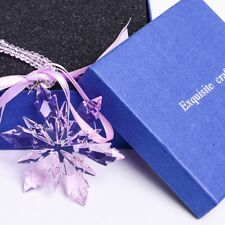 New Amethyst Violet Crystal Snowflake ornament Charm Pendant Gift Party Decor