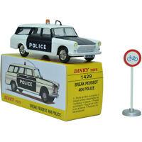 1:43 Atlas DIECAST Dinky Toys 1429 Break Peugeot 404 Police ALLOY Car MODEL