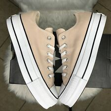 Converse 563497C Lift Platform Canvas Trainers In Light Pink Size Women's 8