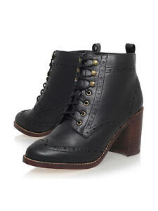 MISS KG 'Seattle' Brogue Detail Black Ankle Boots Size 6 UK  Rrp £90 New in Box