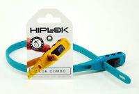 HIPLOK Z-LOK COMBO COMBINATION SECURITY ARMORED ZIP TIE BIKE LOCK TEAL