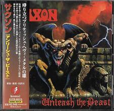Saxon Unleash the Beast Japon CD OBI 1997 AVCB - 66016 NWOBHM Iron Maiden Samson