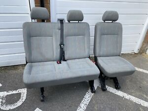 VW Transporter T5 T5.1 T6 rear seats 2 +1 ISOFIX seats NO OUTER BELTS OR MOUNTS