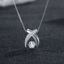 New 925 Sterling Silver Shine Pendant Necklace Womens Jewellery Ladies Gifts
