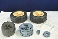 Lot of Meccano Wheels and Tyres Rubber Tires Mixed Bundle