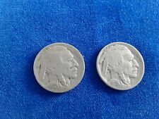 More details for pair of usa indian head 5 cents (nickel)  1927 & 1928