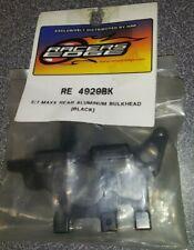 Racers Edge E/T-Maxx Rear Aluminum Bulkhead (Black) RE4929BK New