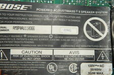 finally, last Bose Acoustimass 9 bass module amplifier assembly unit