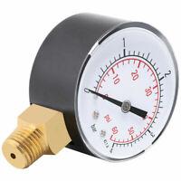 "1PC Metal Pressure Gauge For Fuel &Air &Oil &Water 0-4bar / 0-60psi 1/4"" NPT"