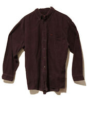 Wolverine 100% Cotton Maroon Corduroy Long Sleeve Button Down Shirt
