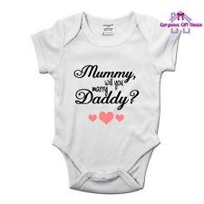 MUMMIA, vuoi sposare Daddy Babygrow, idea proposta di matrimonio, nozze gilet bambino