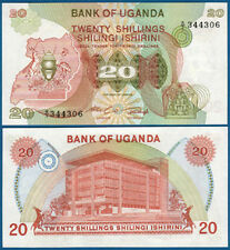 UGANDA  20 Shillings  (1982) UNC  P. 17