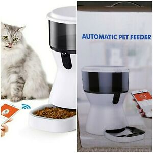 Smart 4L Automatic Pet Dog Cat Feeder with 1080P Camera for Voice Video Recordin