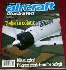 Aircraft Illustrated 1989 November Airbus,Brawdy,Oshkosh,Miami Propliners