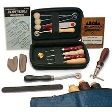 HOLZWURM Leder Nähset Werkzeug Set zum Nähen inkl. Tasche
