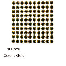 100pcs Fish Eye 7-12mm 3d Holographic Lure Fish Eyes Fly Tying Jigs Crafts Doll Gold 12mm