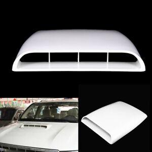 White ABS Plastic Car Front Engine Air Flow Intake Bonnet Vent Cover Hood Decor