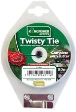 Kingfisher Garden Twisty Tie & Cutter Plastic Garden Twine 80m Plant Tree Shrubs