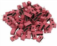 100Pcs Red Pitch Slide Type Switch 1-Bit 2.54MM 1 Position Dip New Ic kq